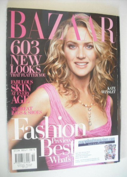 <!--2004-10-->Harper's Bazaar magazine - October 2004 - Kate Winslet cover