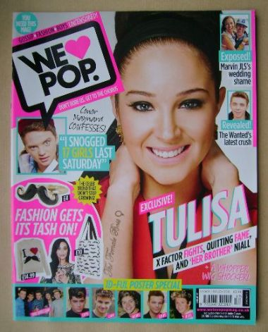 <!--2012-10-17-->We Love Pop magazine - Tulisa Contostavlos cover (17 Octob