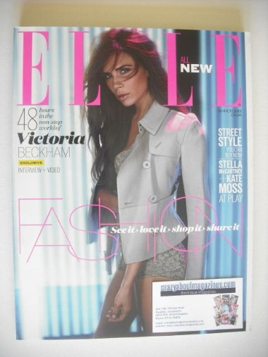 <!--2013-03-->British Elle magazine - March 2013 - Victoria Beckham cover (