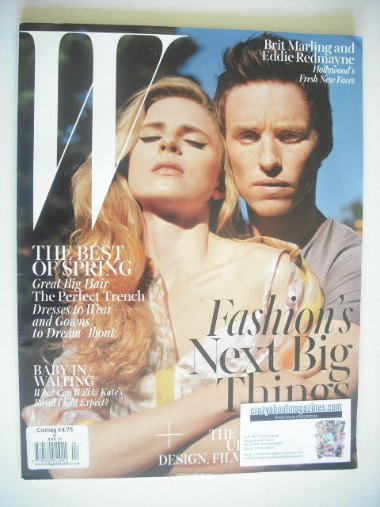 <!--2013-06-->W magazine - March 2013 - Eddie Redmayne cover (L)