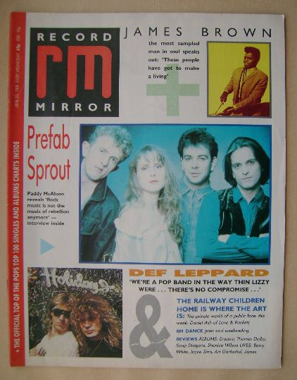 <!--1988-04-23-->Record Mirror magazine - 23 April 1988