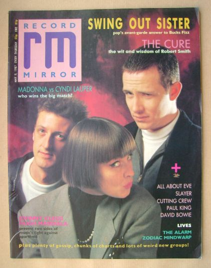 <!--1987-05-09-->Record Mirror magazine - Swing Out Sister cover (9 May 198