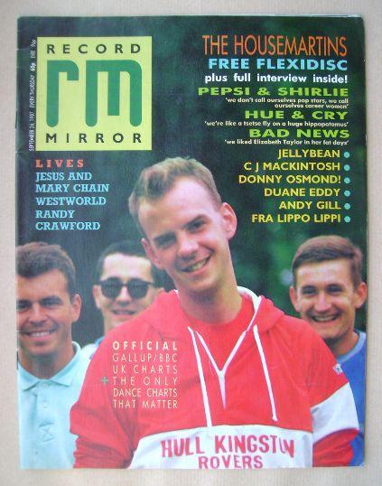 <!--1987-09-26-->Record Mirror magazine - The Housemartins cover (26 Septem