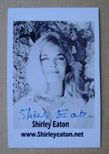 Shirley Eaton autograph