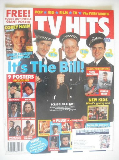 <!--1991-10-->TV Hits magazine - October 1991 - The Bill cover