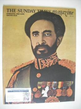 The Sunday Times magazine - Emperor Haile Selassie cover (8 June 1969)