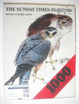 The Sunday Times magazine - Birds Of Britain cover (22 June 1969)