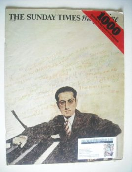 The Sunday Times magazine - George Gershwin cover (6 July 1969)