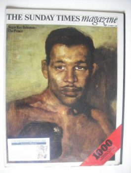 The Sunday Times magazine - Sugar Ray Robinson cover (7 September 1969)
