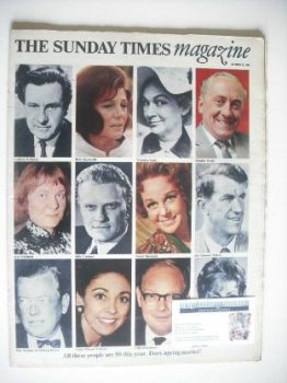 The Sunday Times magazine - Does Ageing Matter cover (19 October 1969)