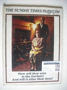 The Sunday Times magazine - How Will They Vote cover (26 October 1969)