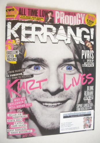 <!--2015-04-04-->Kerrang magazine - Kurt Cobain cover (4 April 2015 - Issue