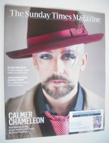 <!--2013-10-20-->The Sunday Times magazine - Boy George cover (20 October 2
