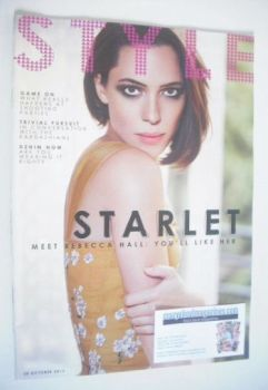 Style magazine - Rebecca Hall cover (20 October 2013)