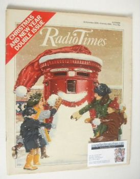 Radio Times magazine - Christmas and New Year Issue (22 December 1979 - 4 January 1980)