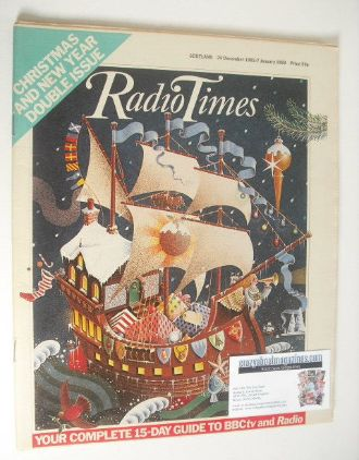 <!--1982-12-24-->Radio Times magazine - Christmas cover (24 December 1982 -