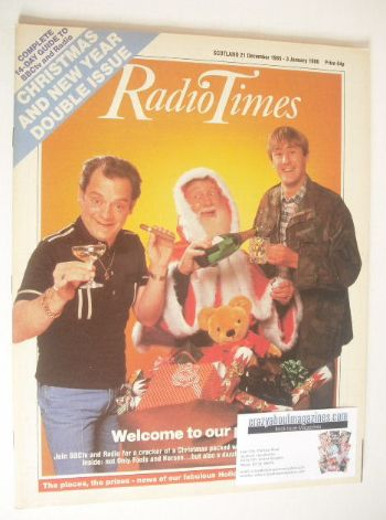 <!--1985-12-21-->Radio Times magazine - Only Fools And Horses cover (21 Dec