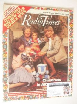 Radio Times magazine - Christmas In Albert Square cover (20 December 1986 - 2 January 1987)