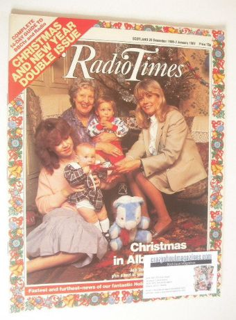 <!--1986-12-20-->Radio Times magazine - Christmas In Albert Square cover (2