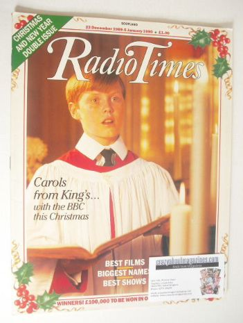 <!--1989-12-23-->Radio Times magazine - Choirboy Christmas Issue (23 Decemb