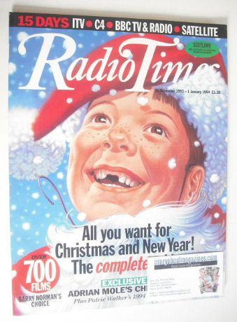 <!--1993-12-18-->Radio Times magazine - Christmas & New Year Issue (18 Dece