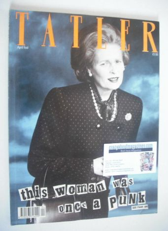 <!--1989-04-->Tatler magazine - April 1989 - Vivienne Westwood cover