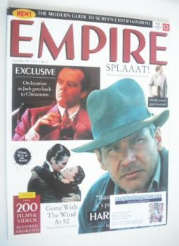 <!--1989-09-->Empire magazine - Harrison Ford cover (September 1989 - Issue 3)