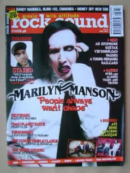 Rock Sound magazine - Marilyn Manson cover (May 2003)