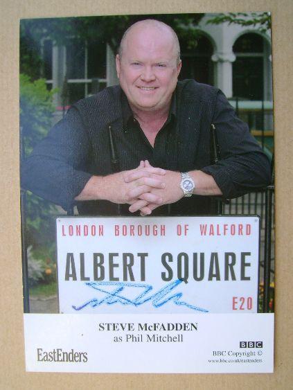 Steve McFadden autograph (hand-signed EastEnders cast card)