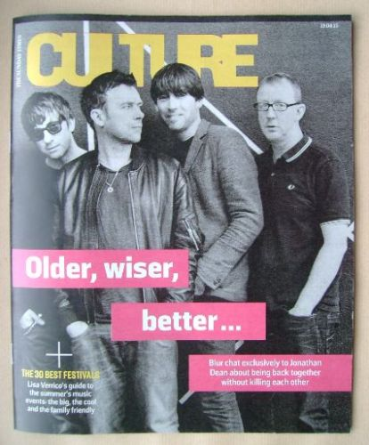 <!--2015-04-19-->Culture magazine - Blur cover (19 April 2015)