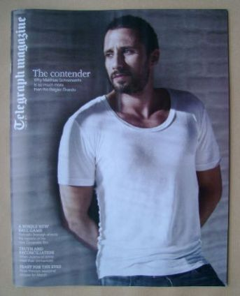 <!--2015-03-07-->Telegraph magazine - Matthias Schoenaerts cover (7 March 2