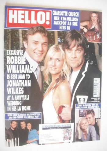 <!--2004-02-24-->Hello! magazine - Jonathan Wilkes wedding cover (24 Februa