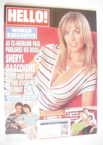 <!--2004-07-13-->Hello! magazine - Sheryl Gascoigne cover (13 July 2004 - I