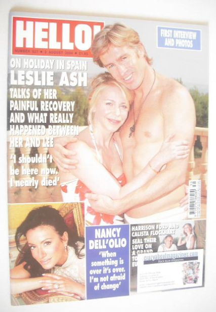 <!--2004-08-03-->Hello! magazine - Leslie Ash cover (3 August 2004 - Issue