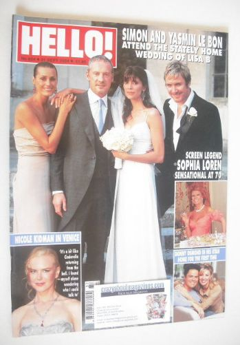 <!--2004-09-21-->Hello! magazine - Lisa B wedding cover (21 September 2004