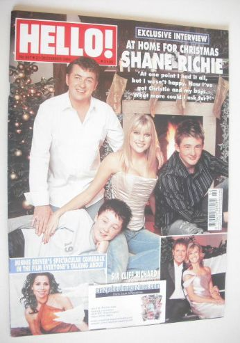 <!--2004-12-21-->Hello! magazine - Shane Richie cover (21 December 2004 - I