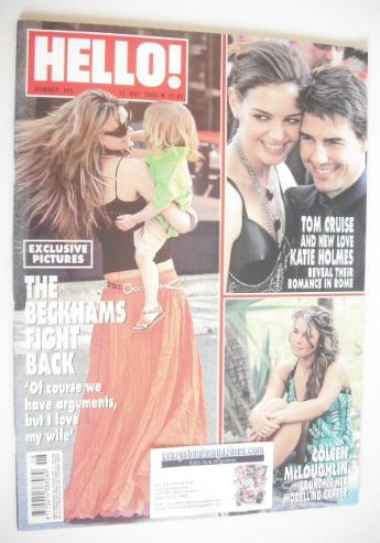 <!--2005-05-12-->Hello! magazine - Victoria Beckham cover (12 May 2005 - Is