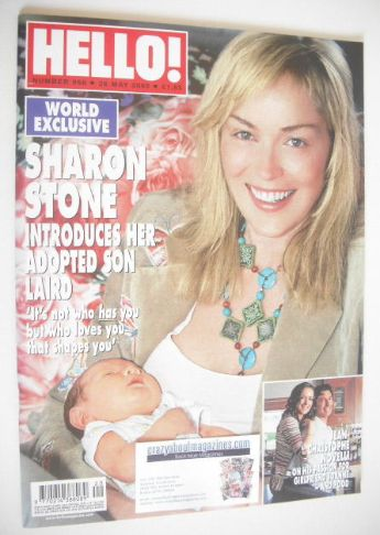 <!--2005-05-26-->Hello! magazine - Sharon Stone cover (26 May 2005 - Issue