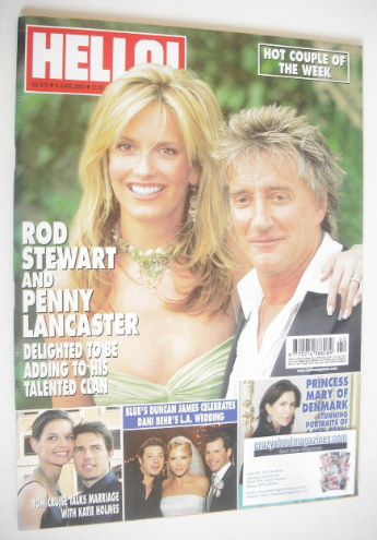 <!--2005-06-09-->Hello! magazine - Rod Stewart and Penny Lancaster cover (9