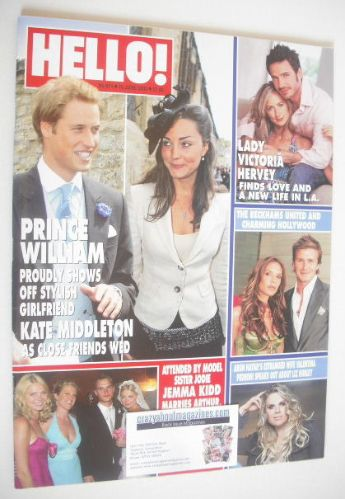 <!--2005-06-16-->Hello! magazine - Prince William and Kate Middleton cover
