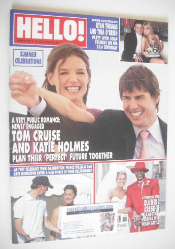 <!--2005-06-30-->Hello! magazine - Tom Cruise and Katie Holmes cover (30 Ju