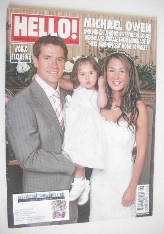 <!--2005-07-07-->Hello! magazine - Michael Owen wedding cover (7 July 2005