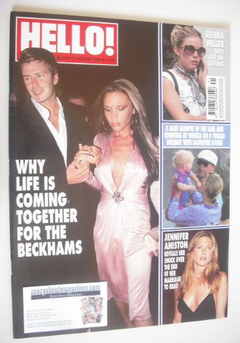 <!--2005-08-11-->Hello! magazine - David and Victoria Beckham cover (11 Aug