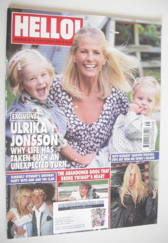 <!--2005-09-08-->Hello! magazine - Ulrika Jonsson cover (8 September 2005 -