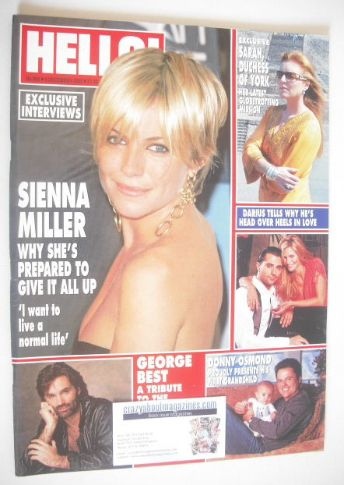 <!--2005-12-08-->Hello! magazine - Sienna Miller cover (8 December 2005 - I