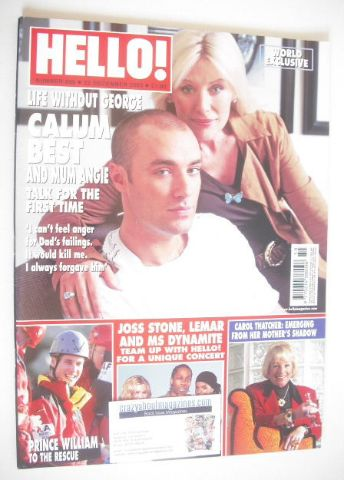 <!--2005-12-22-->Hello! magazine - Calum Best and Angie Best cover (22 Dece