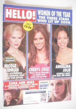 Hello! magazine - Nicole Kidman, Cheryl Cole and Angelina Jolie cover (9 December 2008 - Issue 1050)