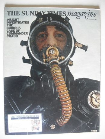 <!--1969-11-23-->The Sunday Times magazine - Commander Crabb cover (23 Nove