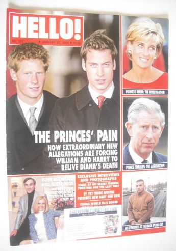 <!--2004-01-27-->Hello! magazine - Princes William and Harry cover (27 Janu