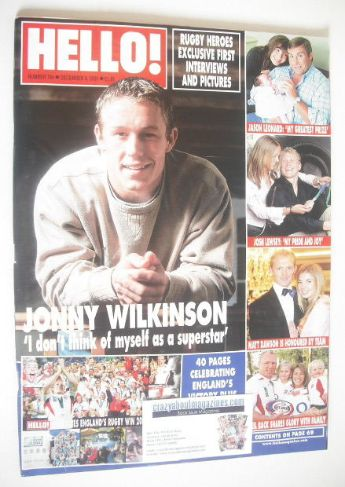 <!--2003-12-09-->Hello! magazine - Jonny Wilkinson cover (9 December 2003 -